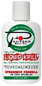 Pautzke Bait Liquid Krill Shrimp Scent All Natural Attractant Cure 2 oz Bottle