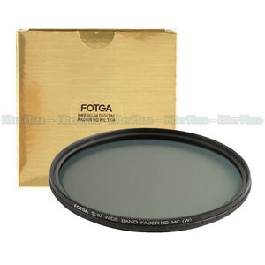 FOTGA 62mm Ultra Slim Multi-Coated 12 Layers Variable ND2-400 Fader MC-ND Filter