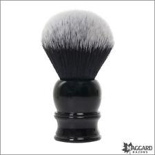 Shaving Brush - Maggard Razors 30mm Black & White Synthetic Brush, Black