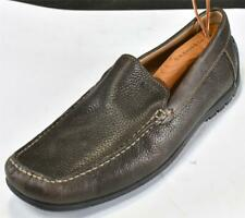 Ecco Brown Leather Soft Slip-On Moccasins Men's Size 43/9-9.5 Extra Width EE