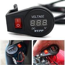 12V Voltmetro Auto Moto Con Interruttore Illuminato LED Rosso
