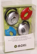 Moki CLIP-ON Headphones - Interchangeable Colours EARPHONES ear head phones NEW