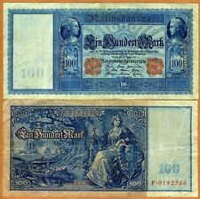 Germany, 100 Mark, 1910, Pick 42, VG > Seated Germania