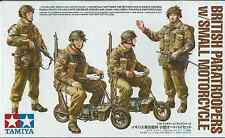 TAMIYA 1:35 SOLDATI BRITISH PARATROOPERS w/SMALL MOTORCYCLE   ART 35337