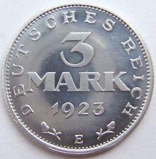 TOP! 3 MARK 1923 E in POLIERTE PLATTE SELTEN !!!