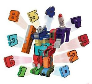 EMCO POCKET MORPHERS NUMBERS 0-9 COLLECT THEM ALL TO CREATE MEGA BOTZ SET 10