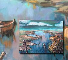 Spannendes Ölgemälde: Polnischer Expressionistisches Landschaftsgemälde Ostsee