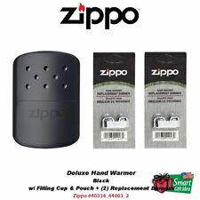Zippo Hand Warmer, Black, 12-Hour + Replacement Burners #40334_44003_2