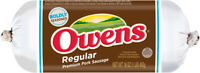 Owens Regular Pork Sausage 16 Oz (4 Pack)