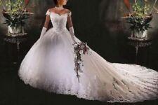 White/Ivory Elegant Off-Shoulder Church Wedding Dresses 2018 Lace Bride Dress