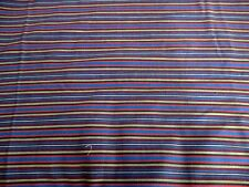 Blue Stripe Sewing Material Fabric Craft Gray Red 1 Yard