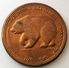 # 6305C     CALIFORNIA   BRONZE   MEDAL,  CENTENNIAL   1969