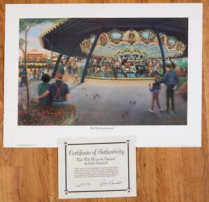 """Linda Barnicott: """"Ride With Me On The Carousel"""" Kennywood Series Edition#531/750"""
