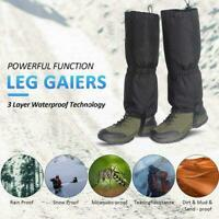 Outdoor Hiking Boot Gaiters Waterproof Snow Leg Legging Wram Cover Climbing H0Y2