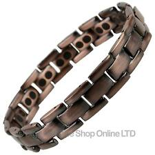 NEW MENS Antique Copper Finish TITANIUM Magnetic BRACELET Health Magnet Therapy