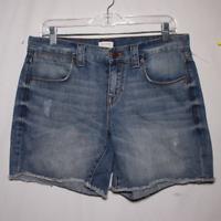 "Pre-Owned J. Crew Blue Mid Rise 5 Pocket Zip 6"" Inseam Denim Shorts Size 28"