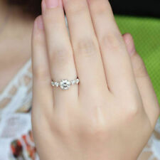 Brilliant Round Cut Five Stone 925 Sterling Silver Promise Engagement Woman Ring