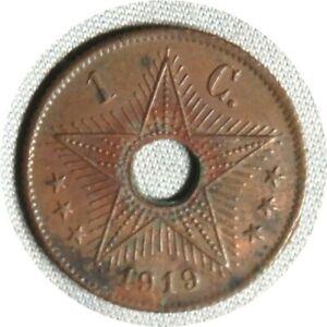 elf Belgian Congo 1 Centime 1919  Star