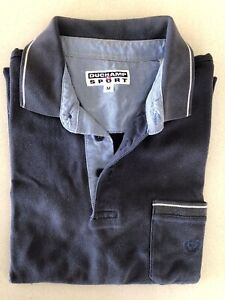 DUCHAMP SPORT. Size-M-Blue 100% Cotton Polo T-Shirt Tee Top.Excellent Cond.