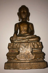 Antique Wooden Seated Buddha
