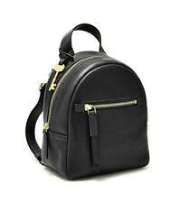 Fossil Megan Black Leather Mini Backpack Crossbody Bag ZB7916001 NWT