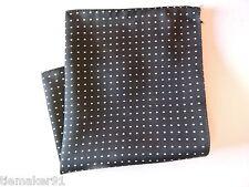 Pochette de costume Polyester noir - blanc à pois italien Qualité
