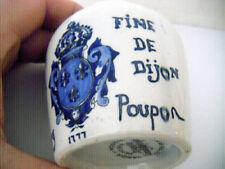"""vintage crock cobalt stenciled Grey Poupon """"Fine De Dijon""""MINT condition"""