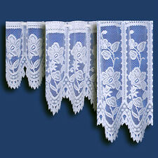 """Choice of 12 Finest Value Premium Quality Cafe Net Curtains - by The Metre Andrea White 18"""" (45cm)"""