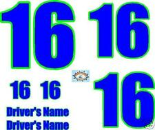 2 Color IMCA/Stock or Sprint Race Car Numbers Package