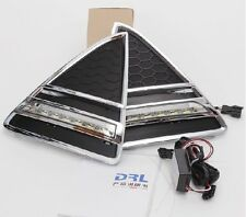 FOR 2012 Ford Focus 1 Pair LED Daytime Running Light DRL with Fog Lamp Covers