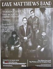 Dave Matthews Band / Femi Kuti /Positive Force 2009 Canadian Concert Tour Poster