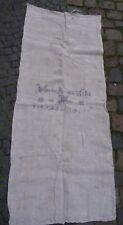 Antiker Sack alter Leinen Mehlsack Bauernleinen Getreidesack bedruckt ~ 1850