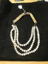 Vintage Pearl Necklace with Sterling silver clasp 6-16-2017-100