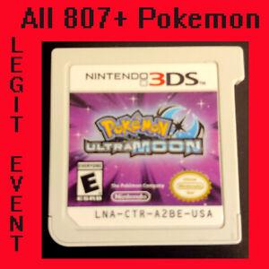 Pokemon Ultra Moon All 807 + Event Pokémon * Transfer to Home & Bank * Unlocked