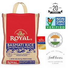 ROYAL Basmati Rice 20 LB Naturally Aromatic and Premium Aged