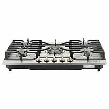 "Top Brand 30"" Stainless Steel 5 Burners Built-in Cook top LPG Natural Gas Stove"