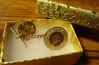 1 one U.S.Navy-Naval Reserve Honorable Discharge Lapel Button Clutch & Tie Back