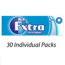 WRIGLEYS EXTRA PEPPERMINT FLAVOUR 10 PIECES CHEWING GUM x 30 PACKETS 478040