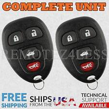 2 Replacement for Buick Chevy Pontiac Saturn Entry Remote Car Key Fob 4btn