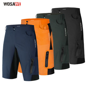 Men's Cycling Baggy Shorts MTB Mountain Bike Riding Casual Half Pants Loose Fit