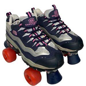 Sketchers Sport Roller Skates Size 7.5 Blue Pink