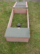 Tortoise hedgehog guinea pig outdoor wooden house & run shelter fully assembled