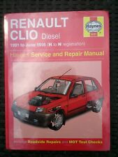 Renault clio diesel NEW Haynes workshop manual 1991-1996 NEW