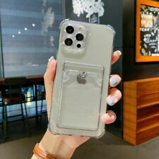 For iPhone 12 11 Pro Max Xs Xr 8 7 Shockproof Card Slot Silicone Soft Case Cover