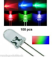 5 mm RGB LED 2 Pins Automatic Color changing Tri Color Led Diode 100 Pieces