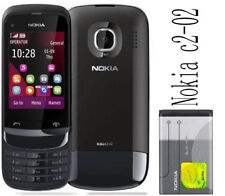 "Nokia C2-02 Touch and Type C202 Original 2G GSM 2.6"" 2MP Bluetooth Slide Phone"