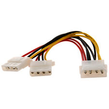 Computer Molex 4 Pin Power Supply Y Splitter Cable CT Y7L4 V8G1