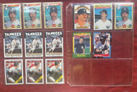 Lot of 14 Don Mattingly cards 1986 1987 1988 1989-NM