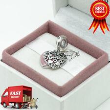 Pandora, Love Makes A Family Pendant Charm, Pink Heart 796459EN28