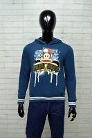 Felpa Blu Uomo PAUL FRANK Taglia S Pullover Cardigan Sweater Sweatshirt Man